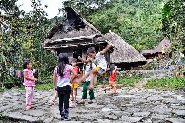 Ifugao Kids playing in Bangaan Village
