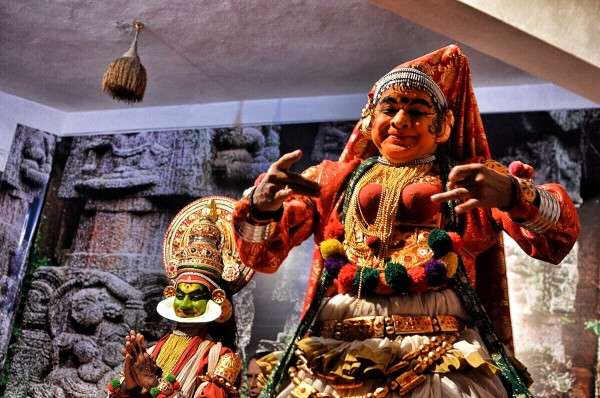 Kathakali Performers in Cochi Cultural Center
