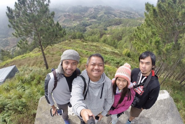 Pinoy Travel Bloggers in Buguias Vegetable Farm Viewpoint