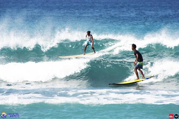 Surfing in Crystal Beach photo by Crystal Beach Resort