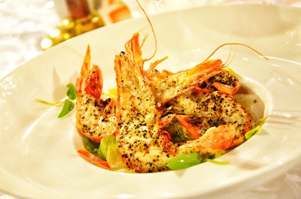Tea Dusted Tiger Prawns