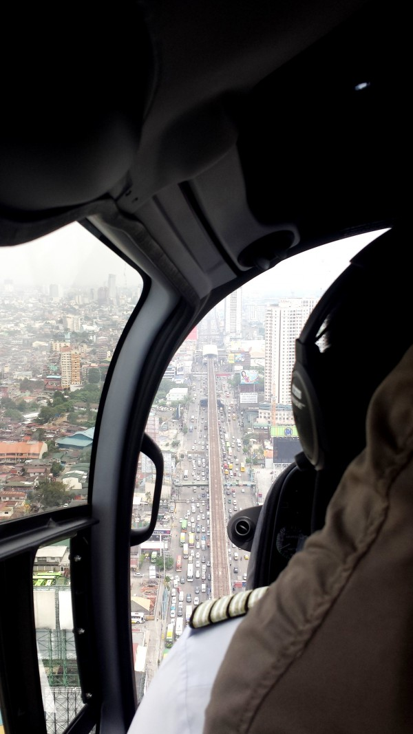 Aerial view of EDSA's traffic