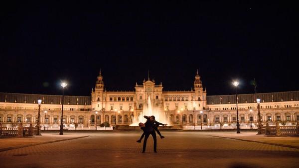 At Plaza de España