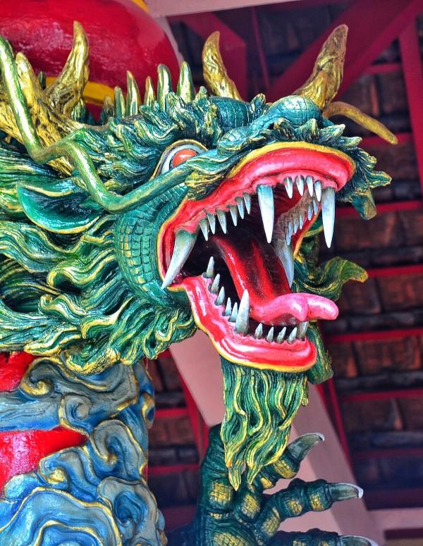Menacing Dragon Sculpture