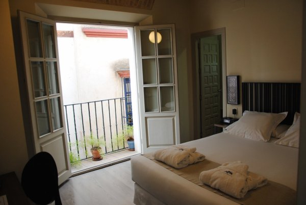 Our room has a beautiful terrace - Sangrias in Sunny Sevilla
