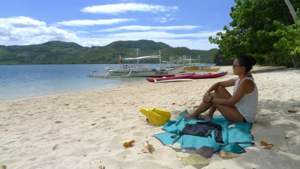 The Author at Dibuluan Island Beach Club
