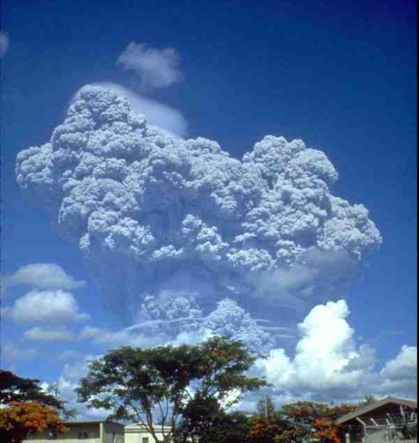 The June 12, 1991 eruption column from Mount Pinatubo taken from Clark Air Base