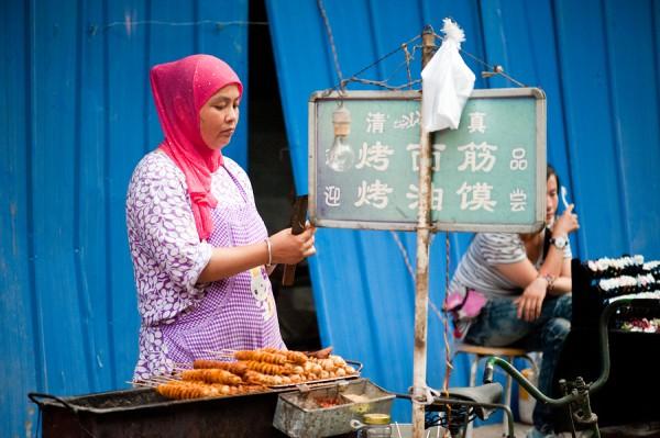 Woman in Muslim Street in Xian China