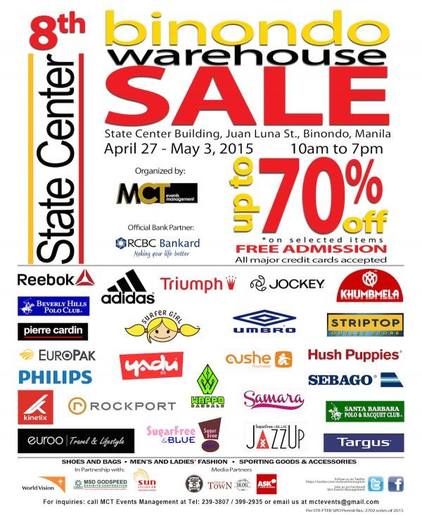 8th Binondo Warehouse Sale 2015