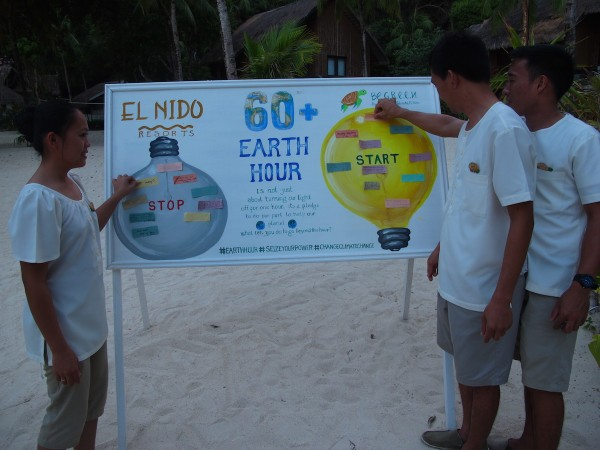 Earth Hour in El Nido Palawan