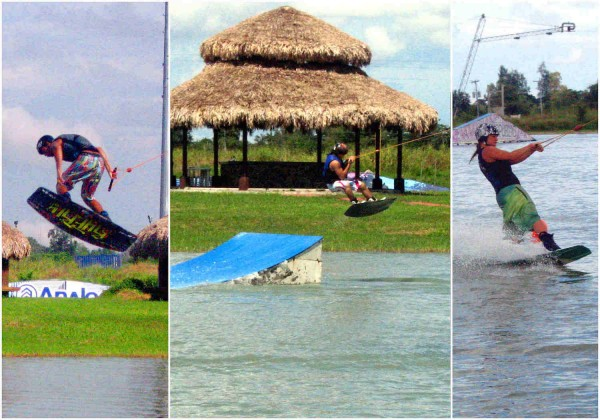 Wakeboarders at Camsur Watersports Complex Camarines Sur