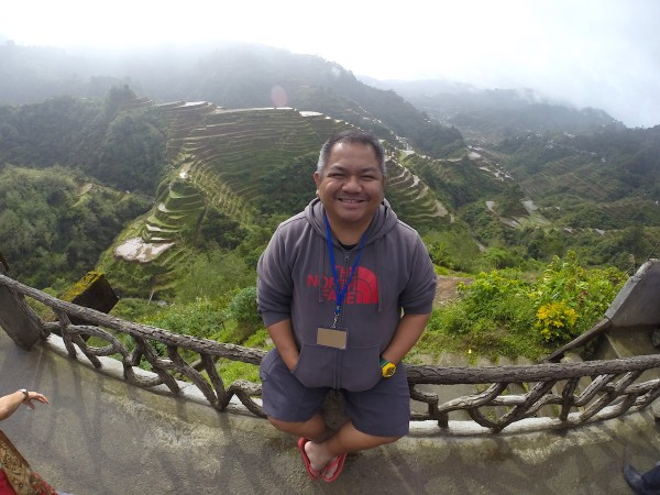 Melo Villareal in Banaue Rice Terraces