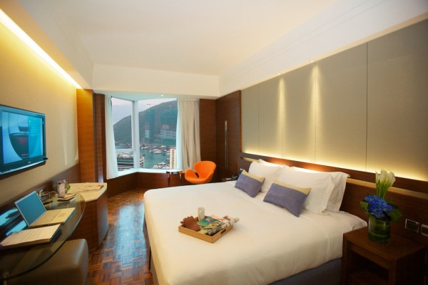 My Bed for Two nights at L'hotel Island South in Hong Kong