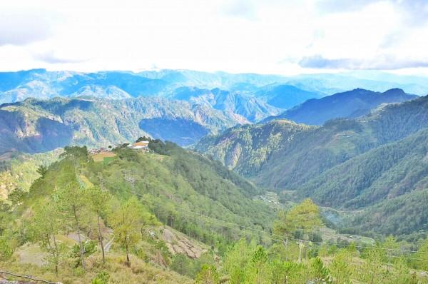 View of Cordillera Mountain Ranges from Halsema Highway
