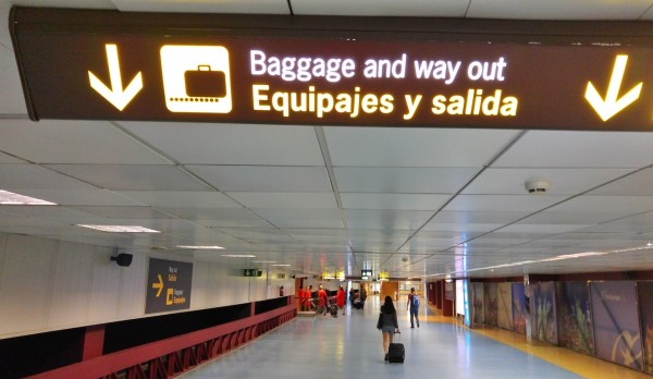 Arrival in Mardid Barajas Airport