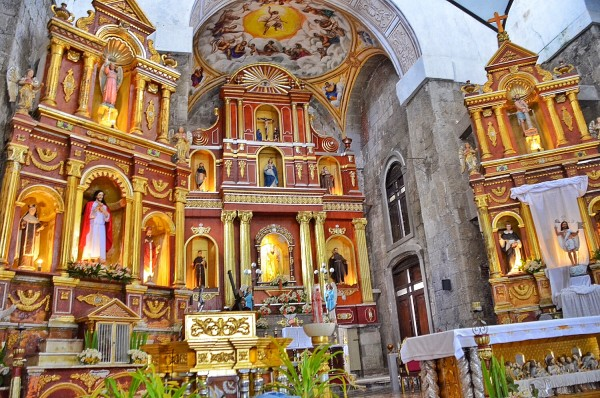 Inside San Bartolome Apostol Parish Church in Majayjay Laguna
