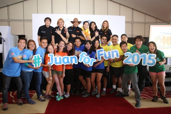 Juan For Fun 2015 Teams and Coaches with Cebu Pacific VP for Marketing and Distribution Candice Iyog
