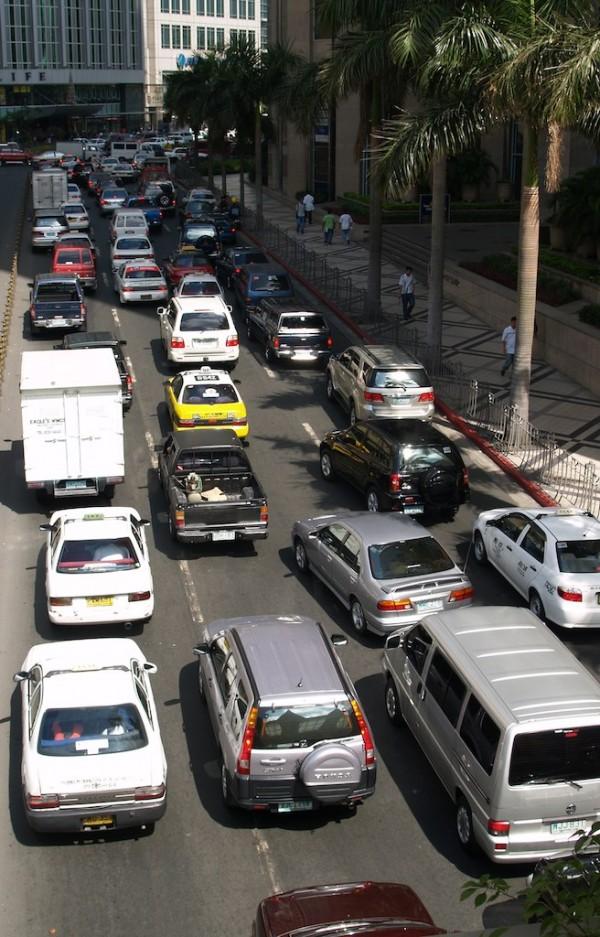 Makati Traffic  Street photos from the Manila National Capital Region.