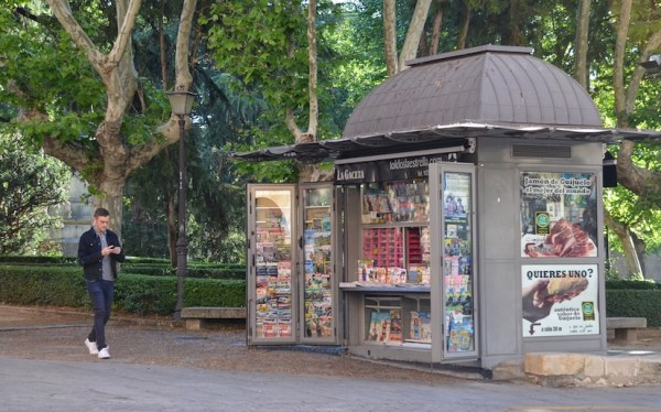 NewsStands in the streets of Salamanca