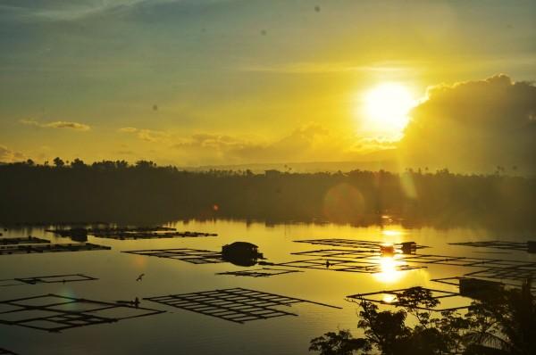 Sunrise in Sampaloc Lake