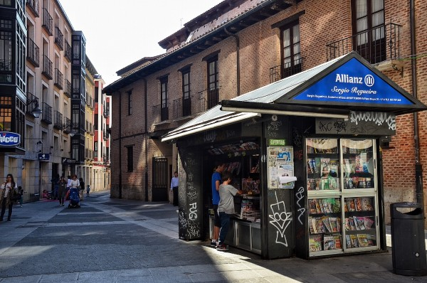 Newsstand near Plaza Major
