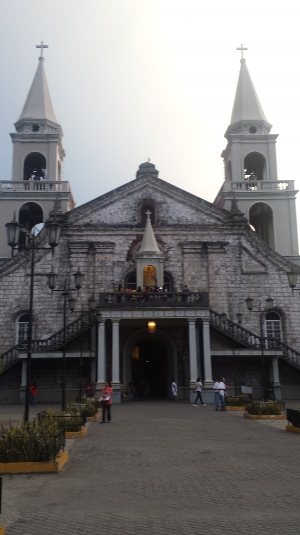 The shrine of Our Lady of Candles over Jaro Cathedral's main entrance