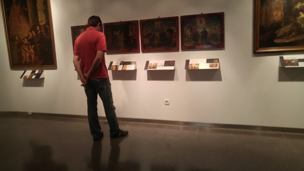 Tourist inside the museum