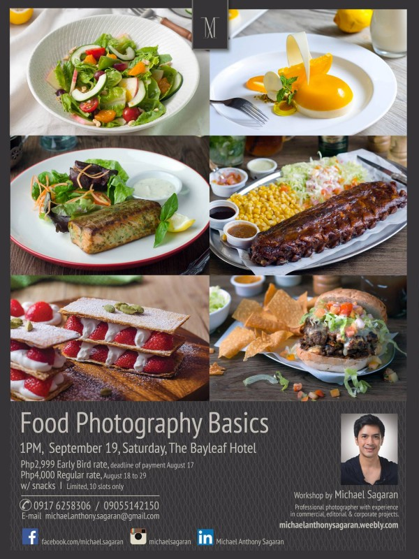 Food Photography Workshop by Michael Sagaran