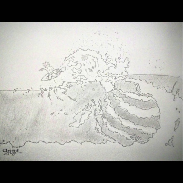 Surfers Sketch