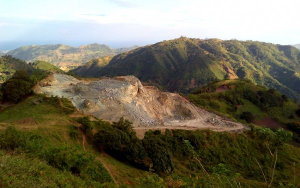 The quarrying we saw halfway-through