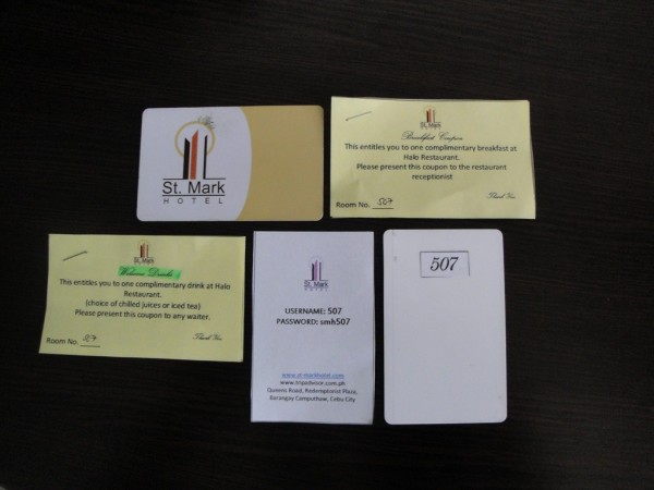 Cards issued upon check-in