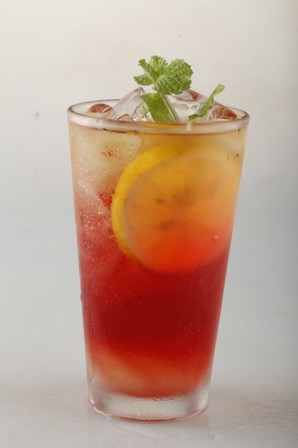 Chamomile Tea + Peach Lemonade