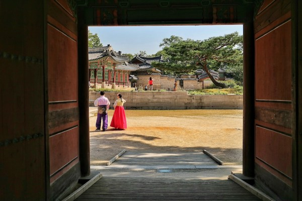 Koreans in Local Costume at Changdeokgung Palace