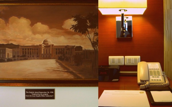 Painting, alarm and telephone