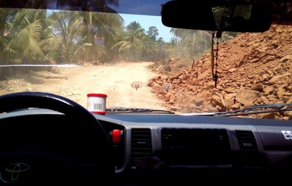 The unpaved road to San Agustin
