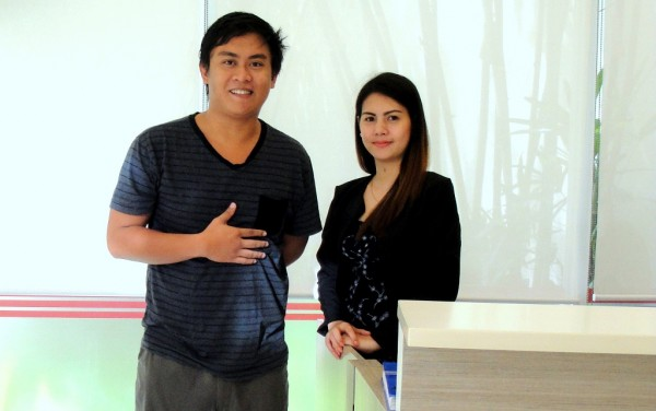 With Myra, Manager of Escario Central