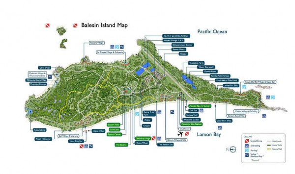 Balesin Island Map