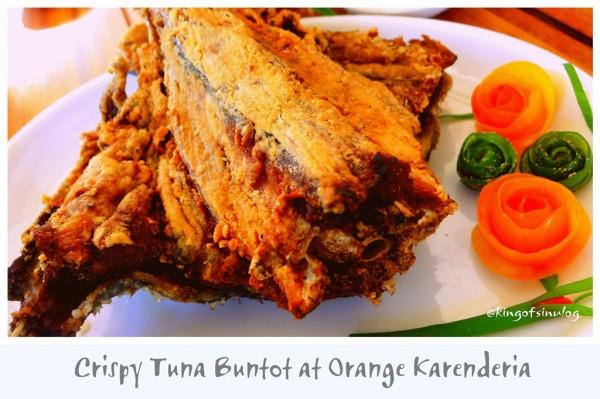 Crispy Tuna Buntot at Orange Carinderia