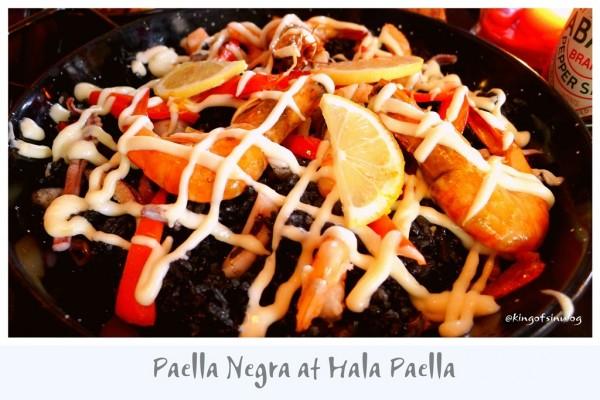 Paella Negra at Hala Paella