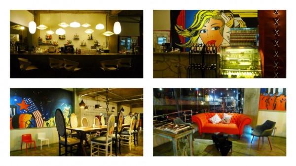 Rica's Restaurant at night