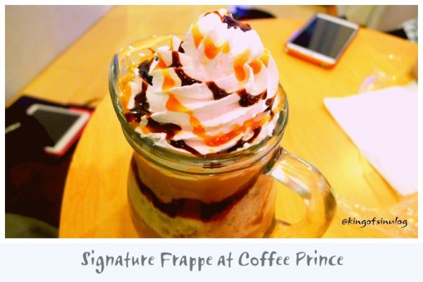 Signature Frappe at Coffee Prince