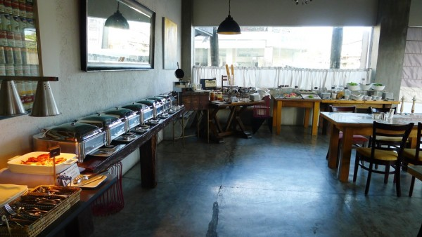 The breakfast buffet spread at Rica's Restaurant