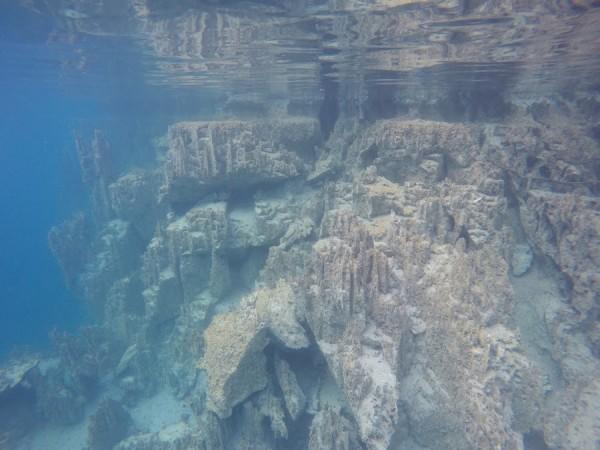crystal clear water at lake kayangan