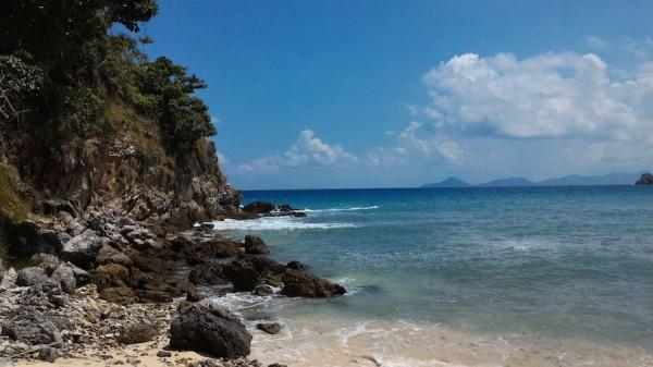 secluded beach coron