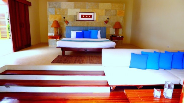 The bed at the Family Villa