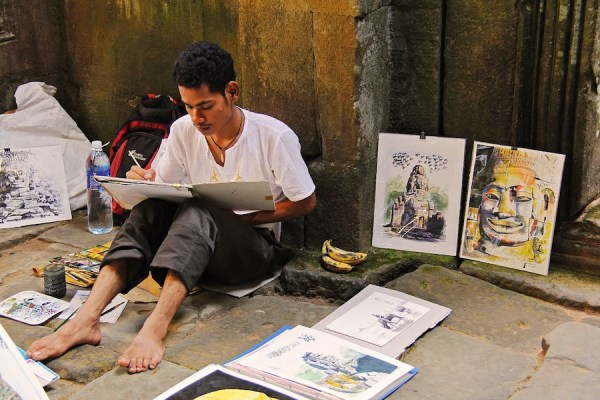 Artist in Siem Reap Cambodia