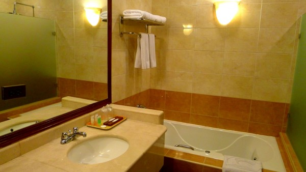 Bathroom with tub