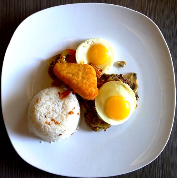 Breakfast Beef Medallion at PHP365 (Top View)