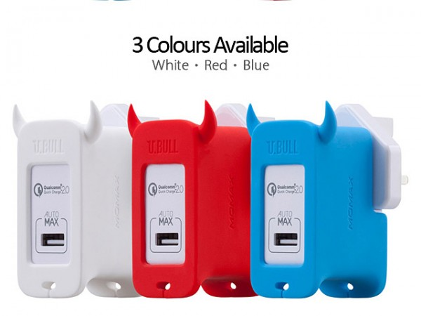 Momax U.Bull QC 2.0 USB charger available colors