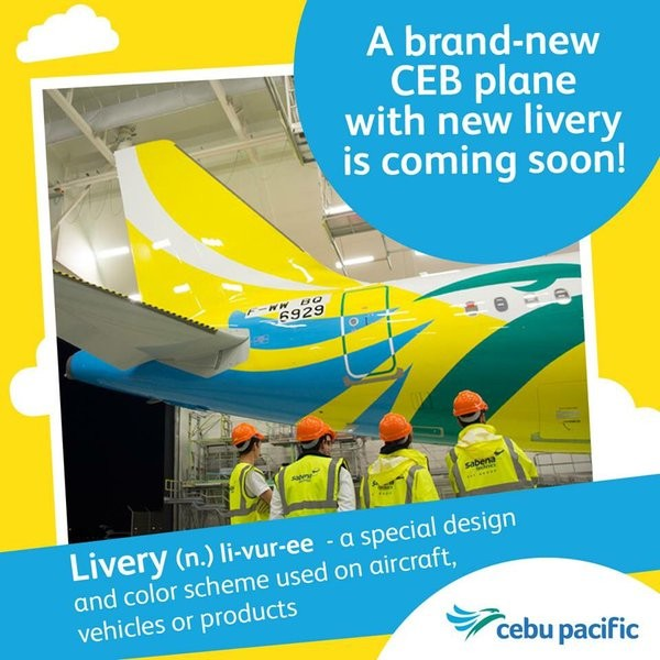 New Cebu Pacific Air Livery